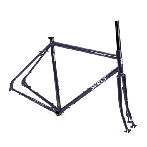 surly disc trucker frameset blue
