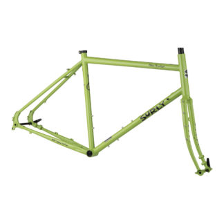 surly disc trucker frameset green