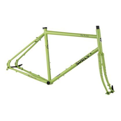 surly disc trucker frameset green